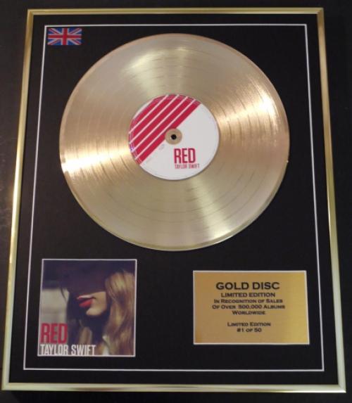 gold disc frames Taylor Swift Disque dor sign/é