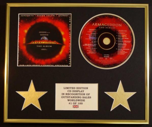 AEROSMITH/CD DISPLAY/ LIMITED EDITION/COA/ARMAGEDDON