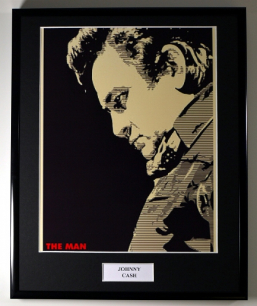 JOHNNY CASH/FRAMED PHOTO