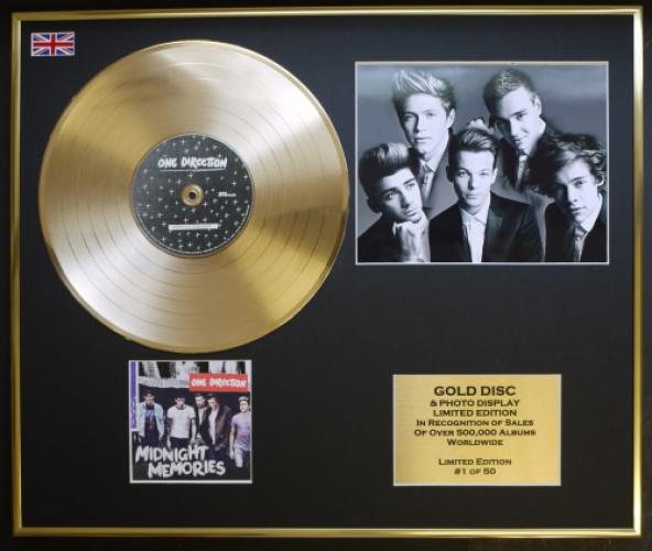 ONE DIRECTION/CD GOLD DISC & PHOTO DISPLAY/LTD  EDITION/COA