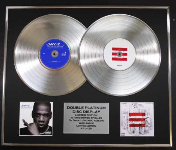 Jay zdouble platinum disc record display ltd edition the blueprint jay zdouble platinum disc record display ltd edition the blueprint 2 the blueprint 3 malvernweather
