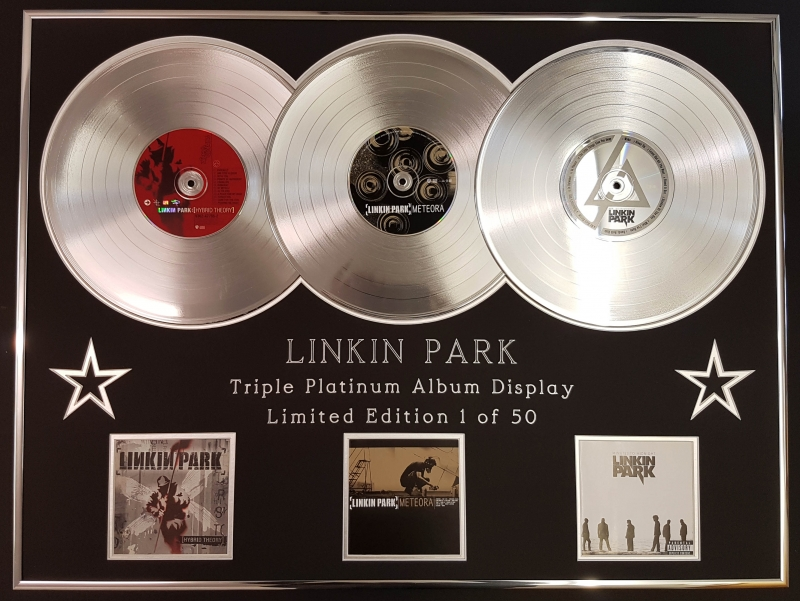 LINKIN PARK/TRIPLE PLATINUM ALBUM DISPLAY/HYBRID THEORY + METEORA +