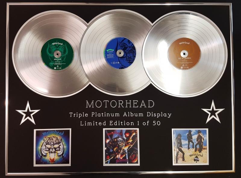 EDITION//COA//BOMBER /& ACE OF SPADES MOTORHEAD//DOUBLE CD GOLD DISC DISPLAY//LTD