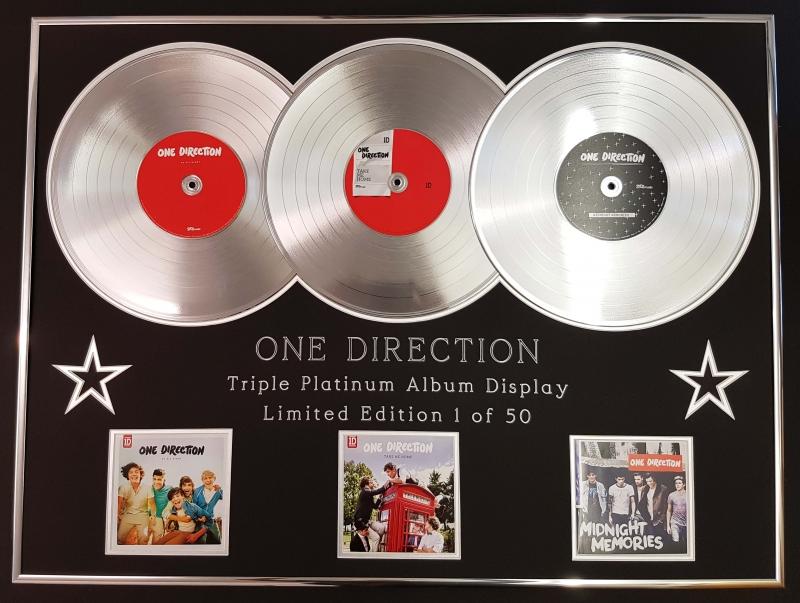 ONE DIRECTION/TRIPLE PLATINUM ALBUM DISPLAY/UP ALL NIGHT +