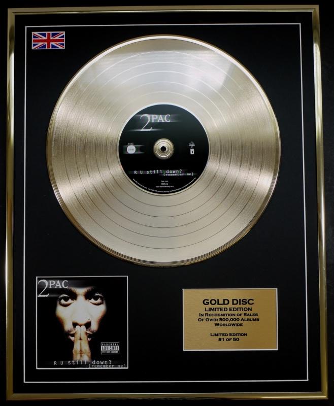 Tupac Ltd Edition Cd Gold Disc Record R U Still Down