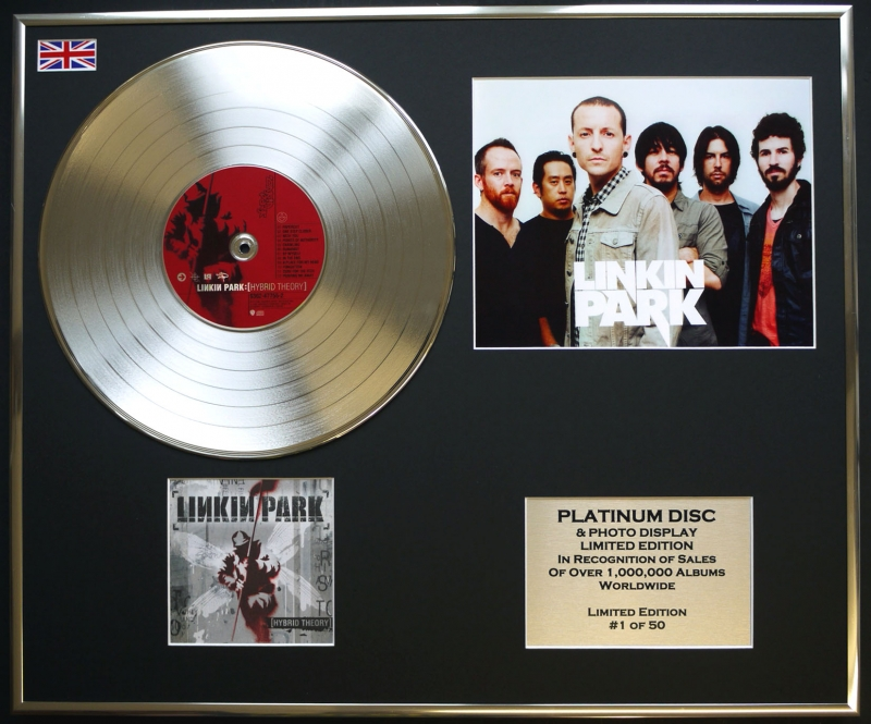 Linkin Park Cd Platinum Disc Photo Display Limited Edition