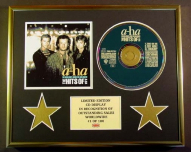 a ha cd display limited edition coa headlines and deadlines