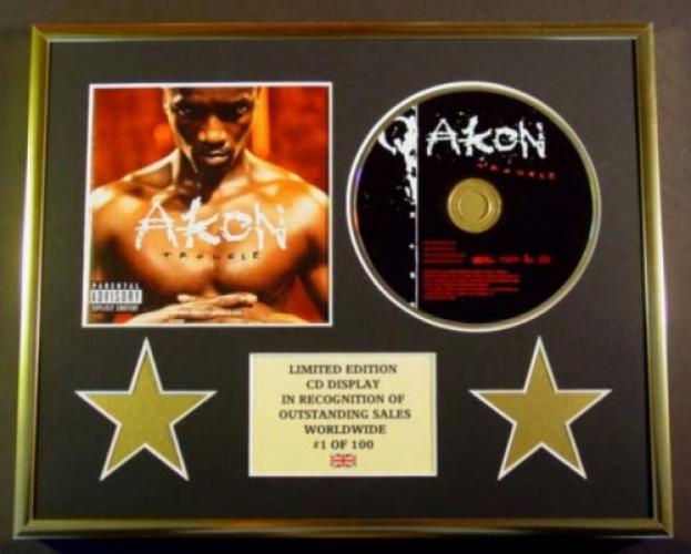 AKON/CD DISPLAY/ LIMITED EDITION/COA/TROUBLE