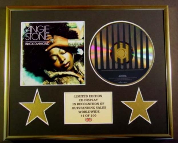 ANGIE STONE/CD DISPLAY/ LIMITED EDITION/COA/BLACK DIAMOND
