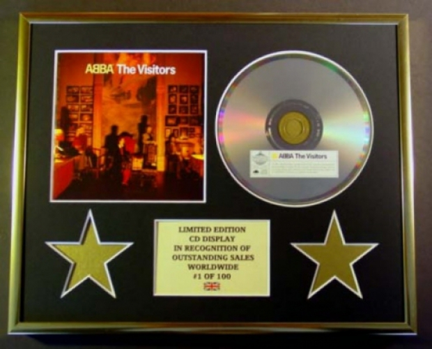 ABBA/CD DISPLAY/ LIMITED EDITION/COA/THE VISITORS