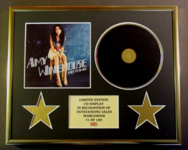 AMY WINEHOUSE/CD DISPLAY/ LIMITED EDITION/COA/BACK TO BLACK