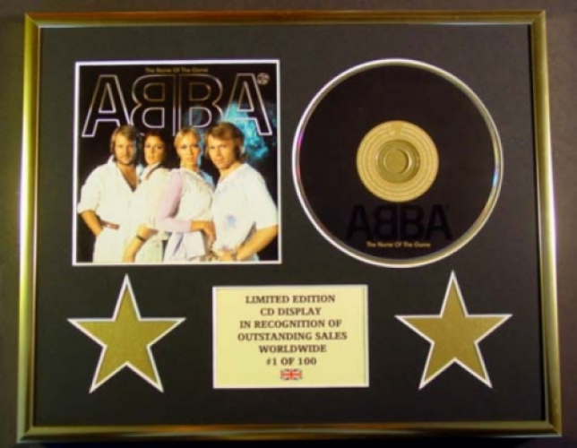 ABBA/CD DISPLAY/ LIMITED EDITION/COA/THE NAME OF THE GAME