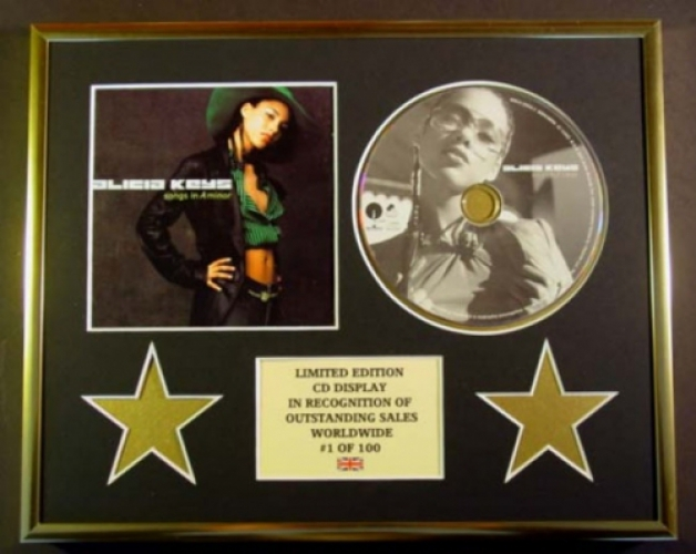 ALICIA KEYS/CD DISPLAY/ LIMITED EDITION/COA/SONGS IN A MINOR