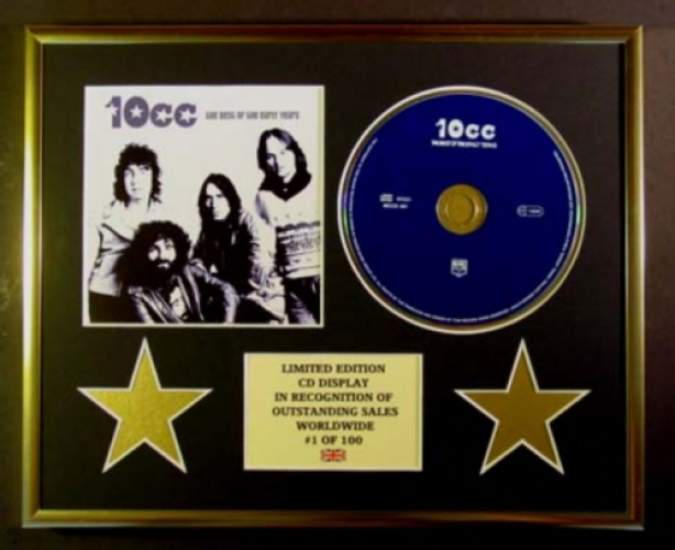 10CC/CD DISPLAY/ LIMITED EDITION/COA/THE BEST OF THE EARLY YEARS