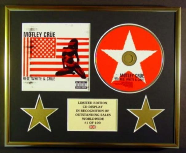 3926b43e0427c MOTLEY CRUE/CD DISPLAY/LIMITED EDITION/RED, WHITE & CRUE