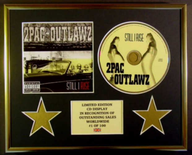 2PAC & OUTLAWZ/CD DISPLAY/LIMITED EDITION/COA/STILL I RISE