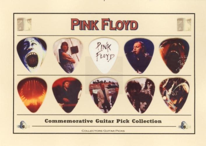 pink floyd commemorative guitar pick collection. Black Bedroom Furniture Sets. Home Design Ideas