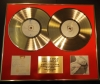 CELINE DION, , DOUBLE CD GOLD DISC DISPLAY, LTD ED, COA,