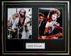 BOB DYLAN, DOUBLE PHOTO DISPLAY, FRAMED